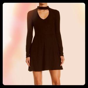 NEW *WINE* Choker Cutout Fit & Flare Mini Dress!